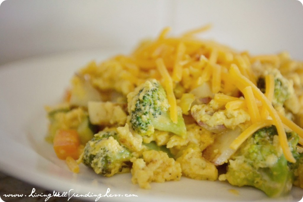 Veggie-Egg Scramble