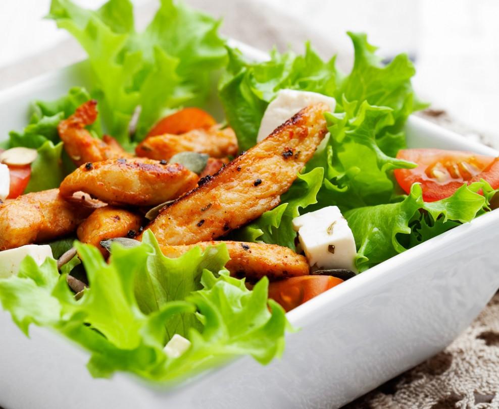 Grilled Chicken & Cabbage Salad