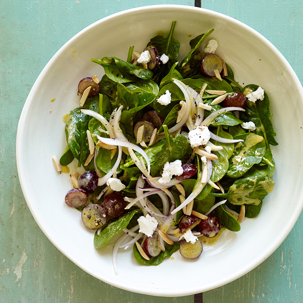 Spinach Salad and Mustard Vinaigrette