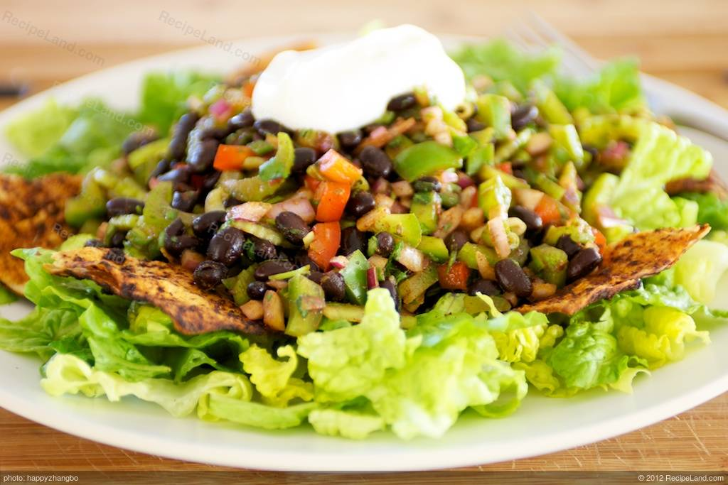 Taco Salad with Pinto Beans